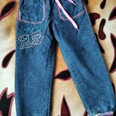 Теплые джинсы на зиму, девочке 4-5лет, Турция! Замеры