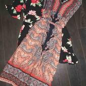 Очень классное роскошное платье в орнамент Peacocks pp 12