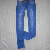 XS-S, поб 44-46, джинсы скинни рванки с декором TJ Jeans новые
