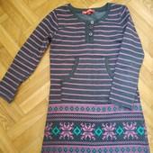 Теплое платье на девочку 116, 5-6 лет. Состояние хорошее.