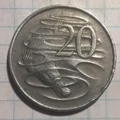 Монета Австралии 20 центов 1982 Утконос