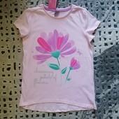 Классная фирменная футболка Petals от Рерсо! на 7-8 лет рост 128! хлопок!