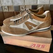 ABS Италия - новые спортивные туфли / натуральная кожа + канвас! Р.45 /стелька 30,5см! Без дефектов!