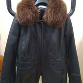 Кожаная куртка б/у на 48-50 р.