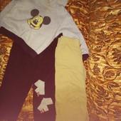 Набор 4 шт. толстовка микки маус, брюки-карго Gap kids, штаны, носочки для дома