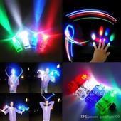 ВаУ!!минифонарики на пальцы с светящимися паутинками-led свет\3шт-упаковка\