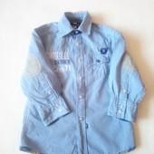 Стильная рубашка Palomino для юного джентльмена на рост 98, 100%хлопок