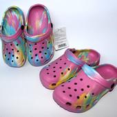 Кроксы детские для девочек, легкие и очень мягкие, размеры 30,31