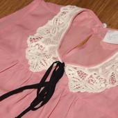 стильная блуза, рубашка, с воротничком, почти как новая! на лето/весну супер! 52 см пог
