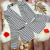Стильный пиджак в полоску, полоска.Zebra, размер S.