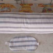 валик подушка и маска для сна