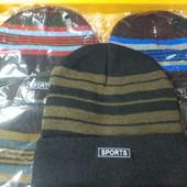 Нова двійна шапка Sports! М'яка, тепла, зручна, розмір універсальний! Унісекс