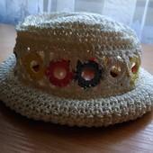Пляжна плетена шляпа Ergee, розм 49, на окружність голови 43 см
