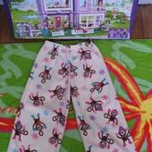 Не пропустите!!!Красивые флисовые пижамные штанишки на девочку 3-5 лет