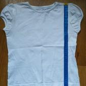 Белая футболка в хорошем состоянии р116-122