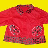 Плащик-Курточка с божьими коровками,Mothercare,рост 80 см