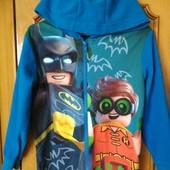 Флисовая пижама,слип,ромпер,кигуруми Бэтмэн Лего,6-7лет,идеал.состояние