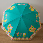 Яркий детский зонтик. Красивый, красочный дизайн. Силикон