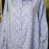 Собираем лоты!! Стильная блузка - рубашка в горошек, размер 38/8,100 %вискоза