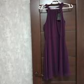 Фирменное новое красивое шифоновое платье р.12-14.
