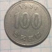 Монета Корей 100 вон 1991