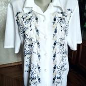 Элегантная офисная рубашка с принтом , Etam, Франция, размер-L(12)