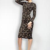 Платье миди в знаменитый принт ключики dolce&gabanna
