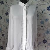 Классическая белая блуза h&m