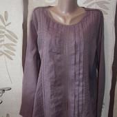 Легкая сиреневая блуза redoute,Индия,пог-59,поб-63
