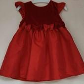 Потрясающее красное платье на принцесску! 3-6 мес.