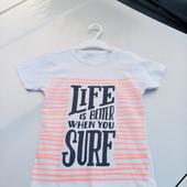 Стоп!! Фирменная удобная яркая натуральная футболка