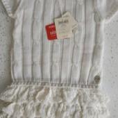 Качественные итальянские платья для маленьких модниц, размер 74
