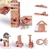 Деревянная увлекательная игра для всей семьи«Дженга» (Jenga)башня для интересного время провождения!