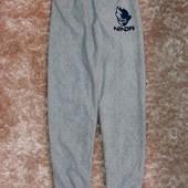 Теплые флисовые штаны на 7-8 лет