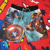 Крутые фирменные шорты для мальчика Капитан Америка, р. 116 в идеале!