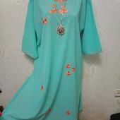 Шикарная яркая нарядная легенькая туника платье с вышивкой Акция читайте