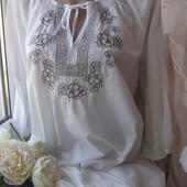 Soyaconcept блуза с вышивкой 100% хлопок XXL-размер