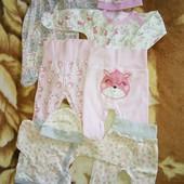 Крутой лот для новорожденной малышки пакет из 9 вещей LC Waikiki, тм Габби
