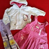 красивый комплект одежды для малышки, кофта, сарафан