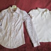Блуза и поло, девочке 10-11 лет, р.146-152