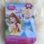 Фирменные пазлы Disney в жестяной коробочке 50 элементов!!!Оригинал!!!