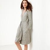 Трикотажный халат с цветочным принтом ТСМ (германия) размер 40 евро .