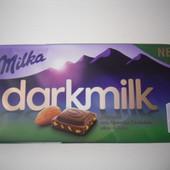 Милка!Чехия!Оригинал!Вкуснейший черный шоколад с миндалем.Новинка!