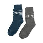 ☘ 1 пара ☘Тёплые махровые носки 39-41р от Tchibo(Германия), синий