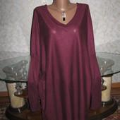 Мягенький свитер цвета марсал14-16р., грудь 72, Atmosphere
