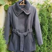 Стильное и теплое деми пальто Maxi blue Takko Fashion (Германия). Размер 54 евро