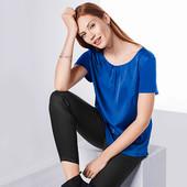 ☘ Шелковистая блуза с коротким рукавом от Tchibo(Германия), размеры наши: 50-52 (44/46 евро)