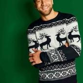 livergy.классный теплый новогодний свитерок М 48/50 большемерит
