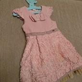 Нарядное теплое платье кружево