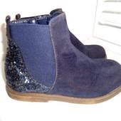 Красивые ботиночки с блестками Bluezoo. Стелька 16, 5 см